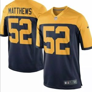 Men's Nike Green Bay Packers Clay Matthews Jersey